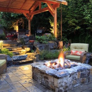 Perfect Fire Pit Design Ideas For Winter Season Decoration39
