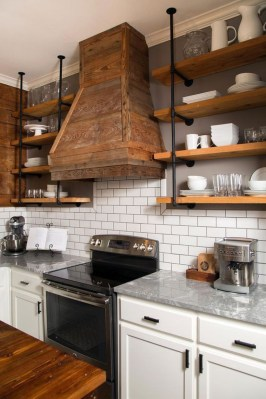 Wonderful Industrial Kitchen Shelf Design Ideas To Organize Your Kitchen08