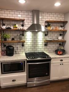 Wonderful Industrial Kitchen Shelf Design Ideas To Organize Your Kitchen11