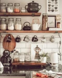 Wonderful Industrial Kitchen Shelf Design Ideas To Organize Your Kitchen13