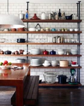 Wonderful Industrial Kitchen Shelf Design Ideas To Organize Your Kitchen16