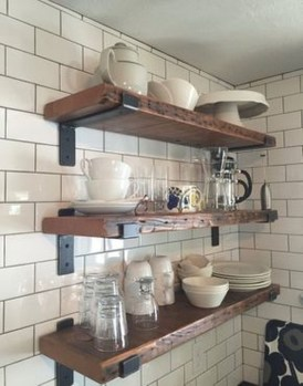 Wonderful Industrial Kitchen Shelf Design Ideas To Organize Your Kitchen17