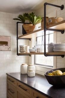 Wonderful Industrial Kitchen Shelf Design Ideas To Organize Your Kitchen19