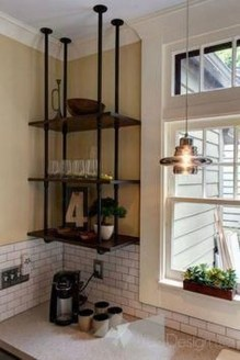 Wonderful Industrial Kitchen Shelf Design Ideas To Organize Your Kitchen20