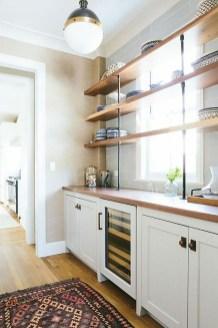 Wonderful Industrial Kitchen Shelf Design Ideas To Organize Your Kitchen22