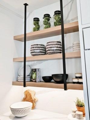 Wonderful Industrial Kitchen Shelf Design Ideas To Organize Your Kitchen25