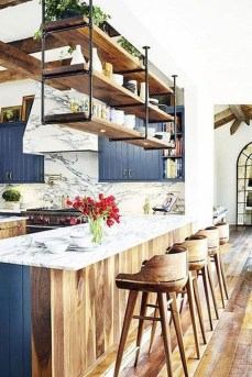 Wonderful Industrial Kitchen Shelf Design Ideas To Organize Your Kitchen30
