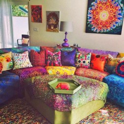Charming Boho Living Room Decorating Ideas With Gypsy Style19