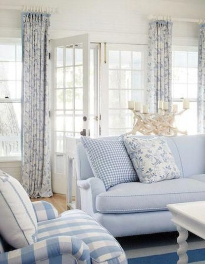 Elegant Coastal Themed Living Room Decorating Ideas30