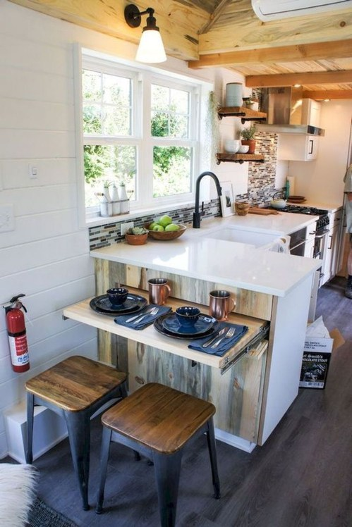 Enchanting Kitchen Design Ideas For Small Spaces43