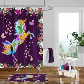 Fabulous Bathroom Design Ideas With Boho Curtains01