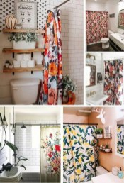Fabulous Bathroom Design Ideas With Boho Curtains19