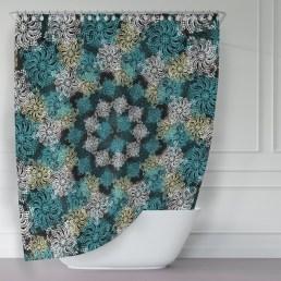 Fabulous Bathroom Design Ideas With Boho Curtains20