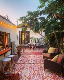 Inspiring Boho Outdoor Decorating Ideas For Backyard14