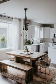 Pretty Farmhouse Table Design Ideas For Kitchen13