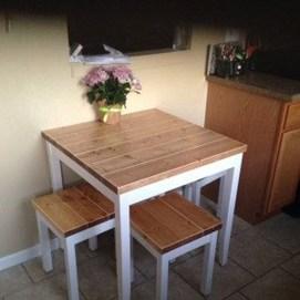 Pretty Farmhouse Table Design Ideas For Kitchen14