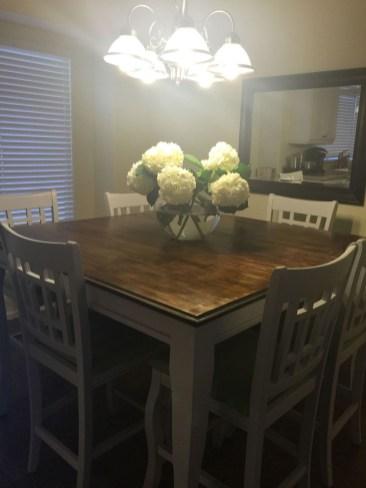 Pretty Farmhouse Table Design Ideas For Kitchen16