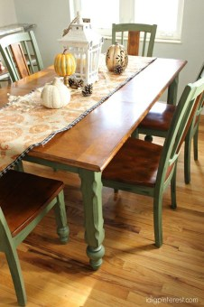Pretty Farmhouse Table Design Ideas For Kitchen23