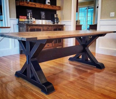 Pretty Farmhouse Table Design Ideas For Kitchen24