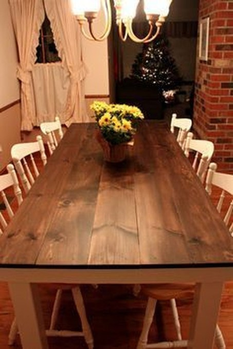 Pretty Farmhouse Table Design Ideas For Kitchen37