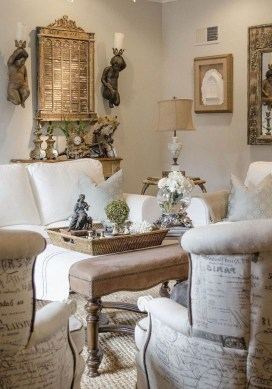 Wonderful French Country Design Ideas For Living Room25