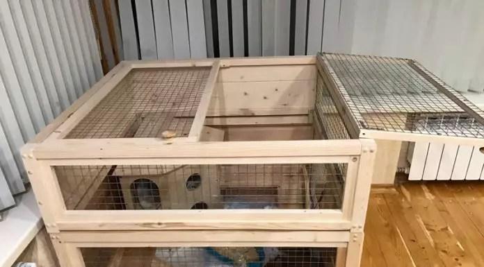 Клетки для кроликов своими руками - Чертежи и размеры
