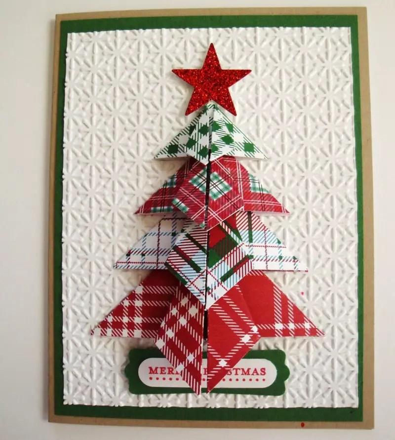 Открытка оригами рождество, картинки