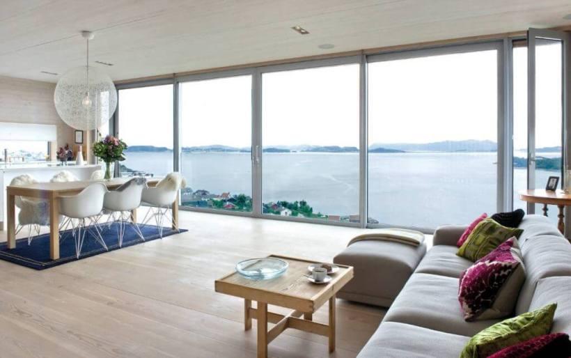 Open-Floor Space with Floor to Ceiling Windows