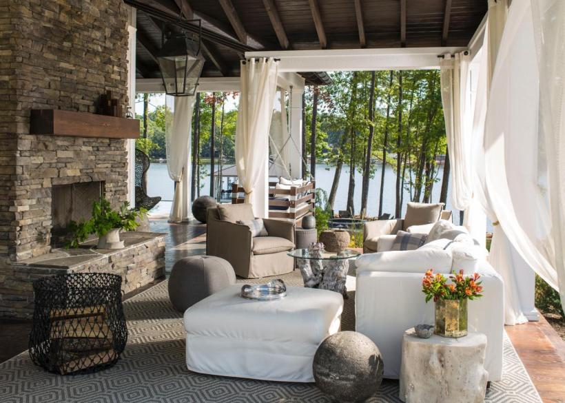 Tropical Patio Outdoor Living Room