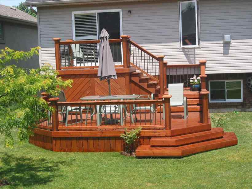 Versatile Small Elevated Deck