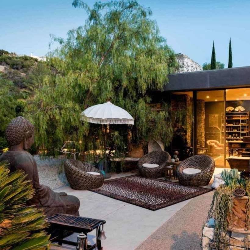Asian Style Backyard Patio