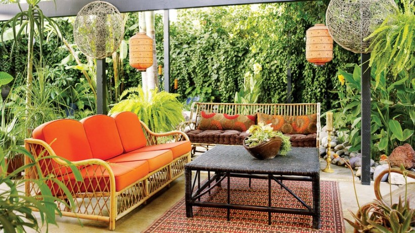 Backyard Patio in the Garden