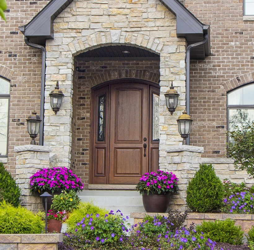 Flawless Arched Front Door