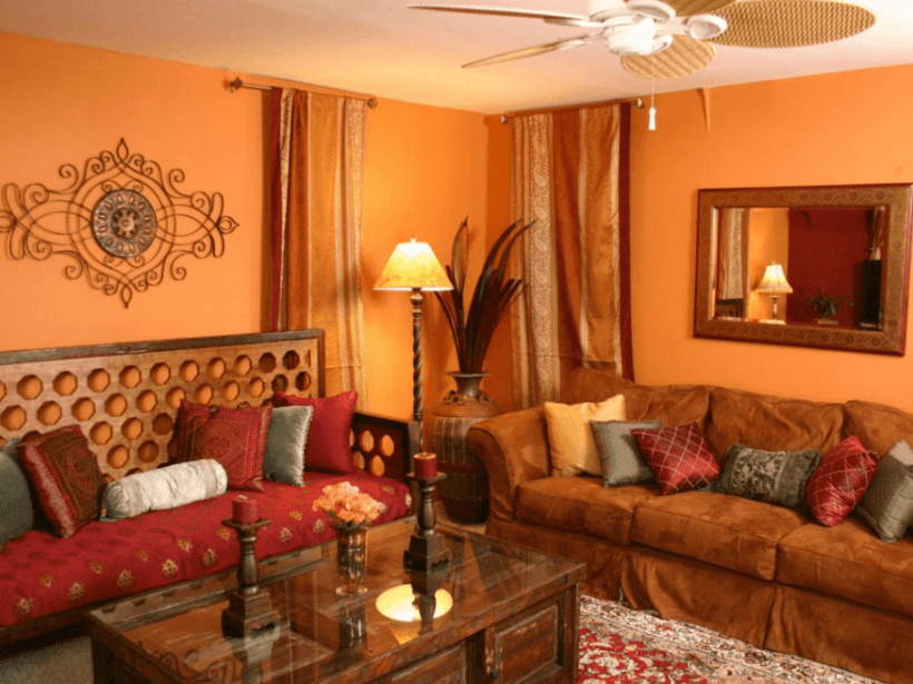 Living Room Design with Indian Style