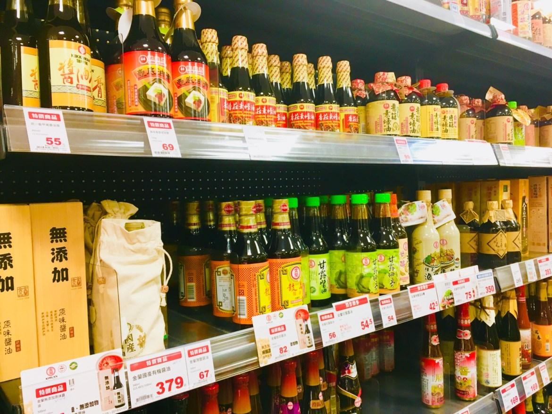 超市醬油商品陳列架