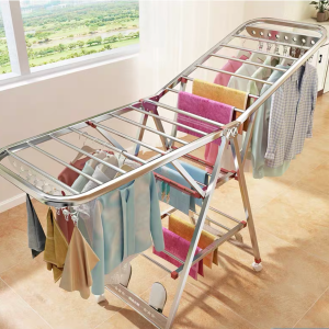 Foldable Clothes Rack (Stainless Steel)