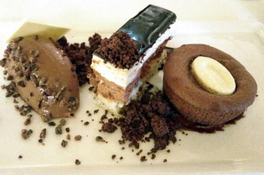 Gourmandise aux 3 chocolats.