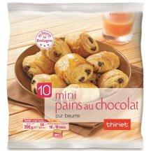 10 mini pains au chocolat, Thiriet.