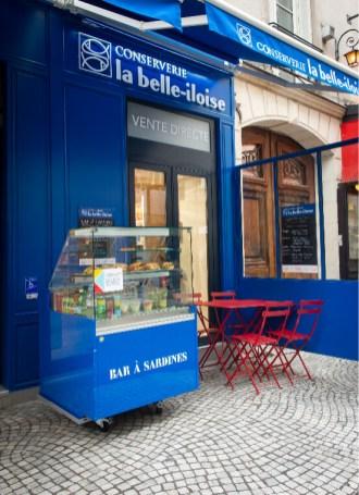 Devanture conserverie La Belle-Iloise. Photo Ariane Le Guay