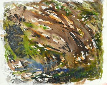 Ramures, De Gouville Ariadne, 55 x 46 huile et encres