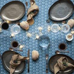 Nappe Plume coloris Blue Heaven, Gabrielle Paris