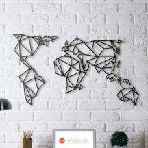 1. Déco Métal Carte du Monde, ArtWall & Co