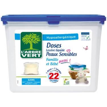 Doses lessive liquide, 22 lavages