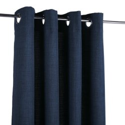 9. Rideau bleu prêt à poser, Mondial Tissus