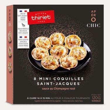8 mini coquilles Saint Jacques, Thiriet