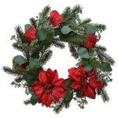 5. Couronne décorative rouge, Jardiland