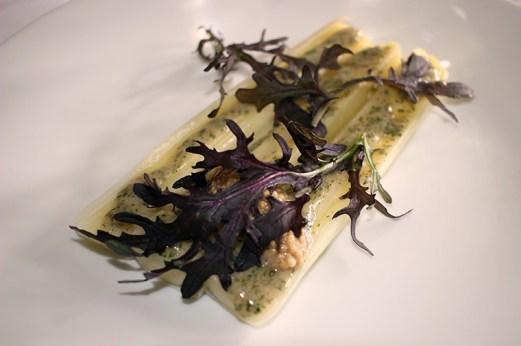 Poireau à la vinaigrette aux herbes, graines de moutarde