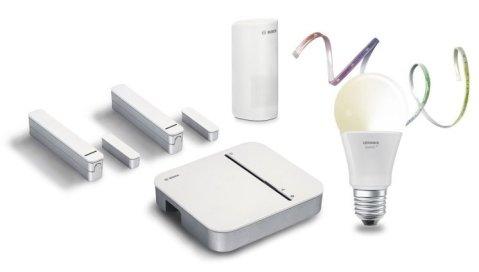 Kit connecté système d'alarme, Ledvance & Bosch 2
