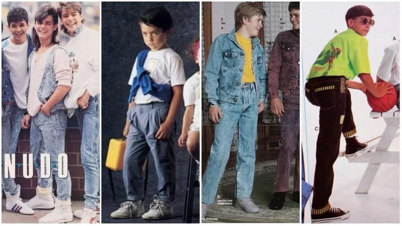 Mode des années 80 pour garçons