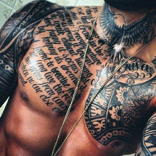 idées tatouage poitrine